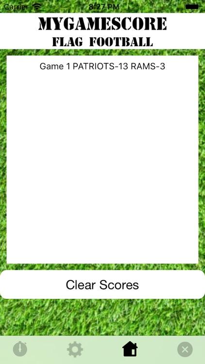MyGameScore Flag Football screenshot-7