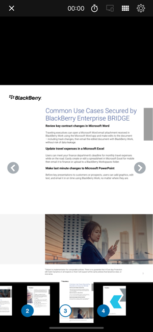 ‎BlackBerry Enterprise BRIDGE Screenshot