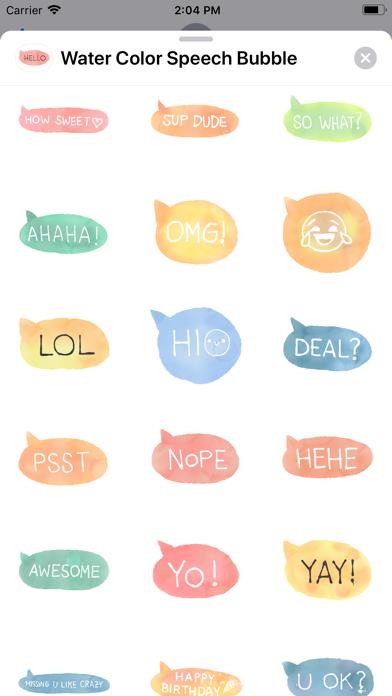 Water Color Speech Bubble screenshot 4