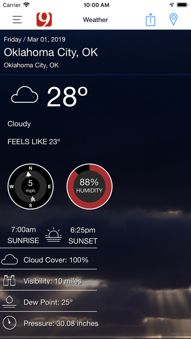 News 9 Weather review screenshots