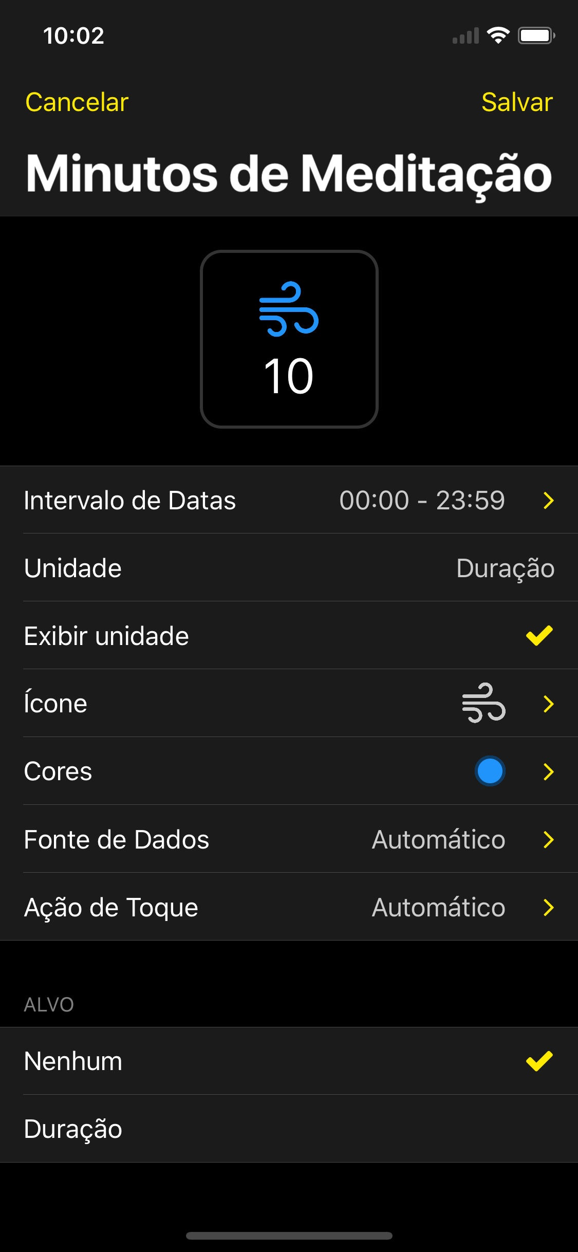Screenshot do app HealthFace