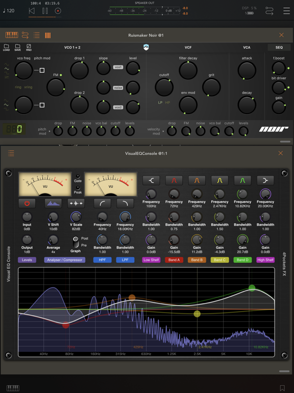 Visual EQ Console AUv3 Plugin screenshot 10
