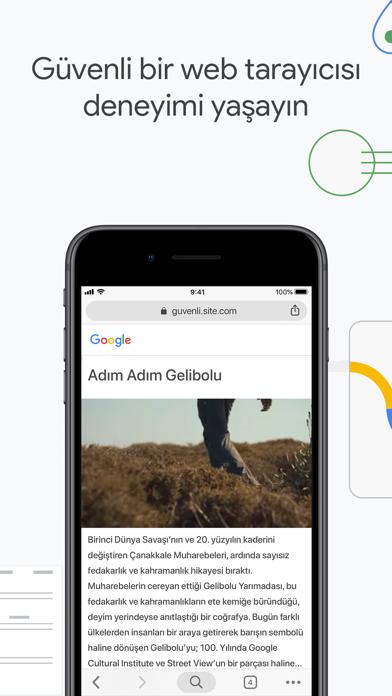 Google Chrome iphone ekran görüntüleri
