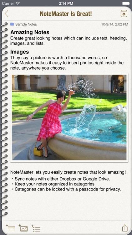 NoteMaster screenshot-0