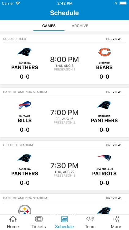 Carolina Panthers Mobile screenshot-3