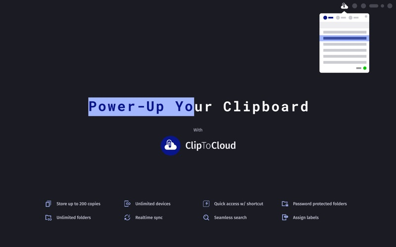 ClipToCloud for Mac