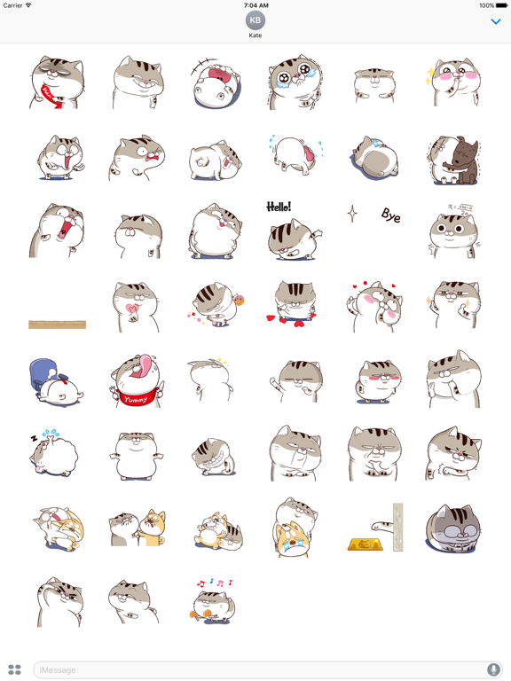 Animated Funny Fat Cat Sticker screenshot 4