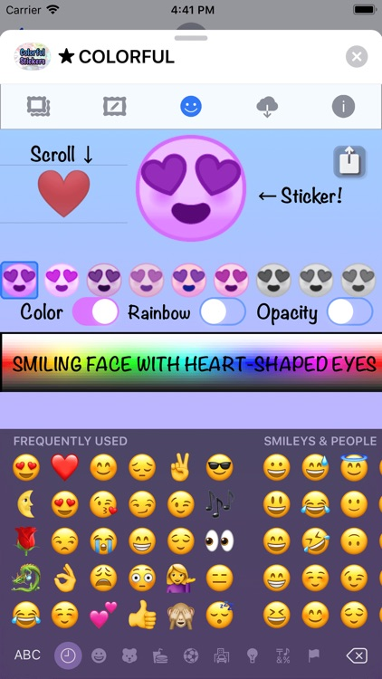Colorful Stickers and Emoji screenshot-5