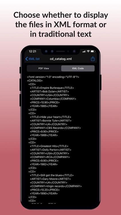 XML Viewer & converter to PDF screenshot-3