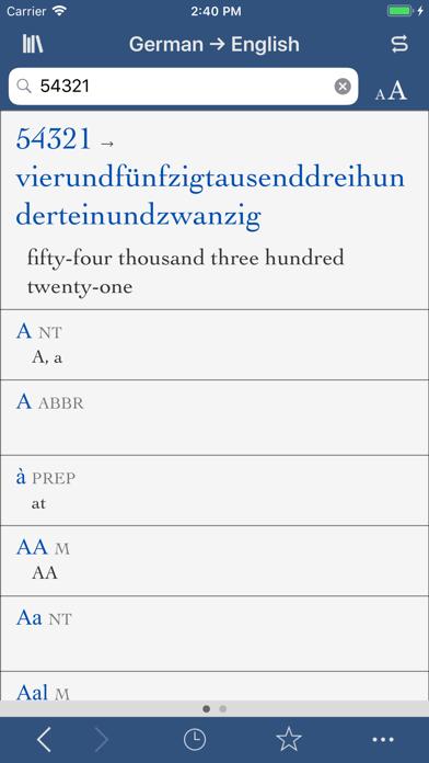 Collins German English review screenshots