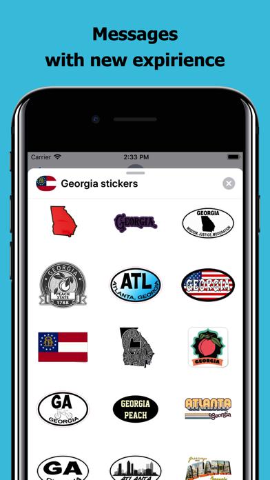 Georgia emojis - USA stickers screenshot 3