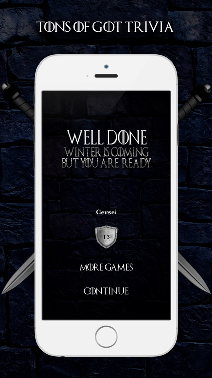 Game of Trivia Thrones of Snow