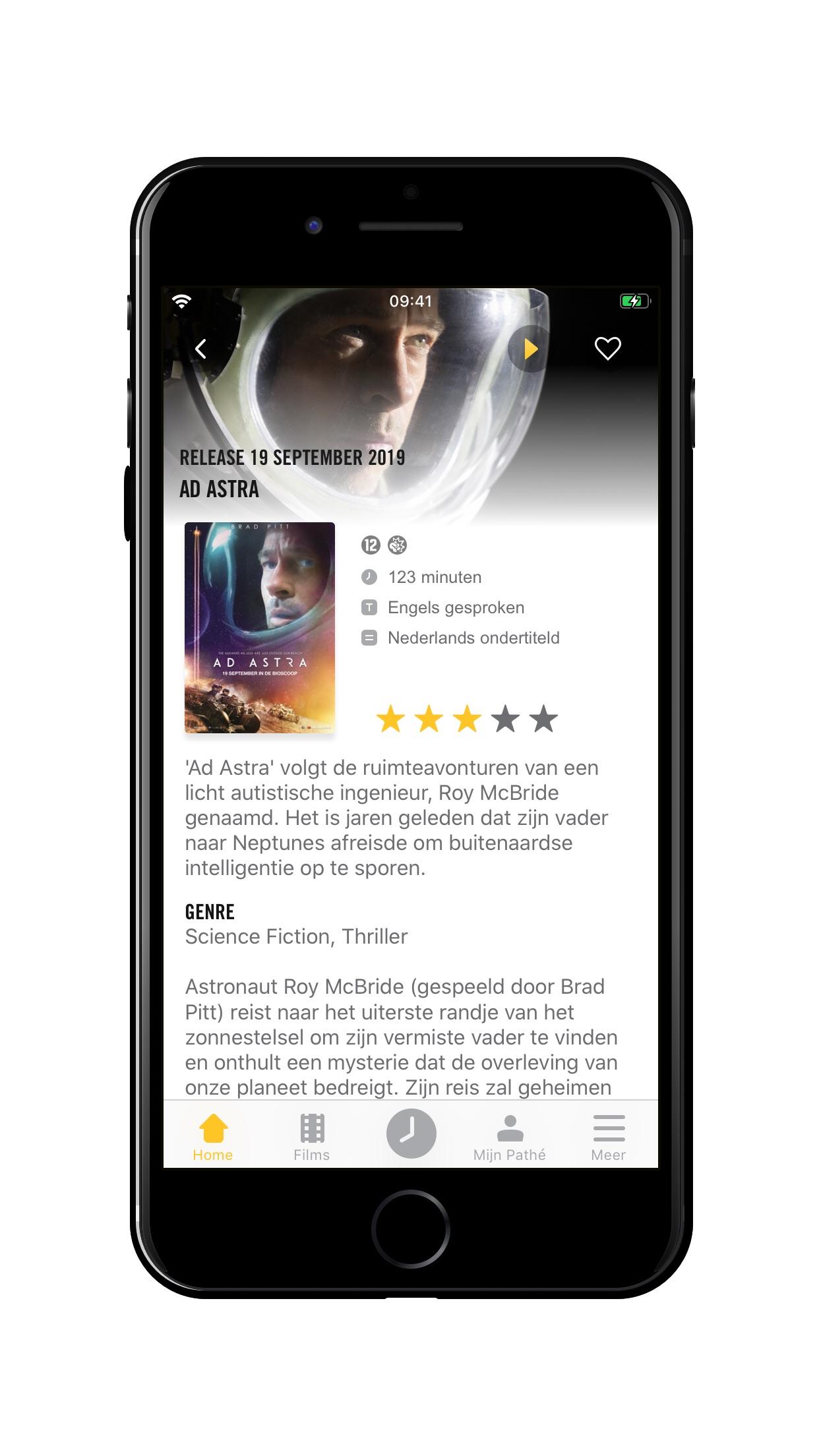 Pathé App Screenshot