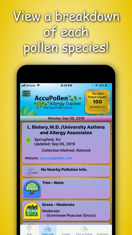 AccuPollen™ Allergy Tracker