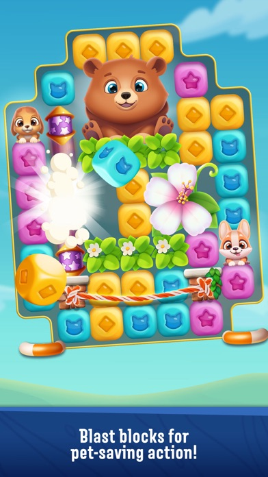 Pet Rescue Puzzle Saga Screenshot 1