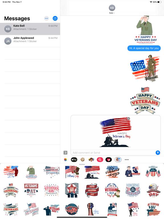 Happy Veterans Day Stickers screenshot 6