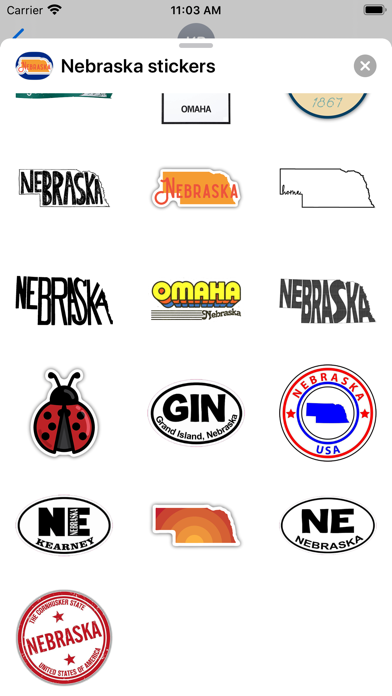 Nebraska emoji - USA stickers screenshot 2