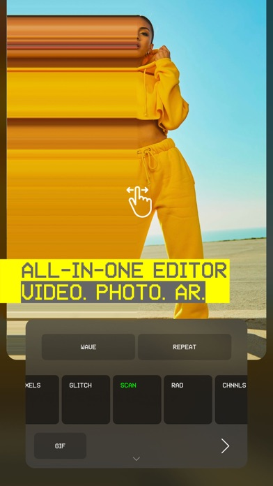 Screenshot for Glitché: Video, Photo, AR in United States App Store