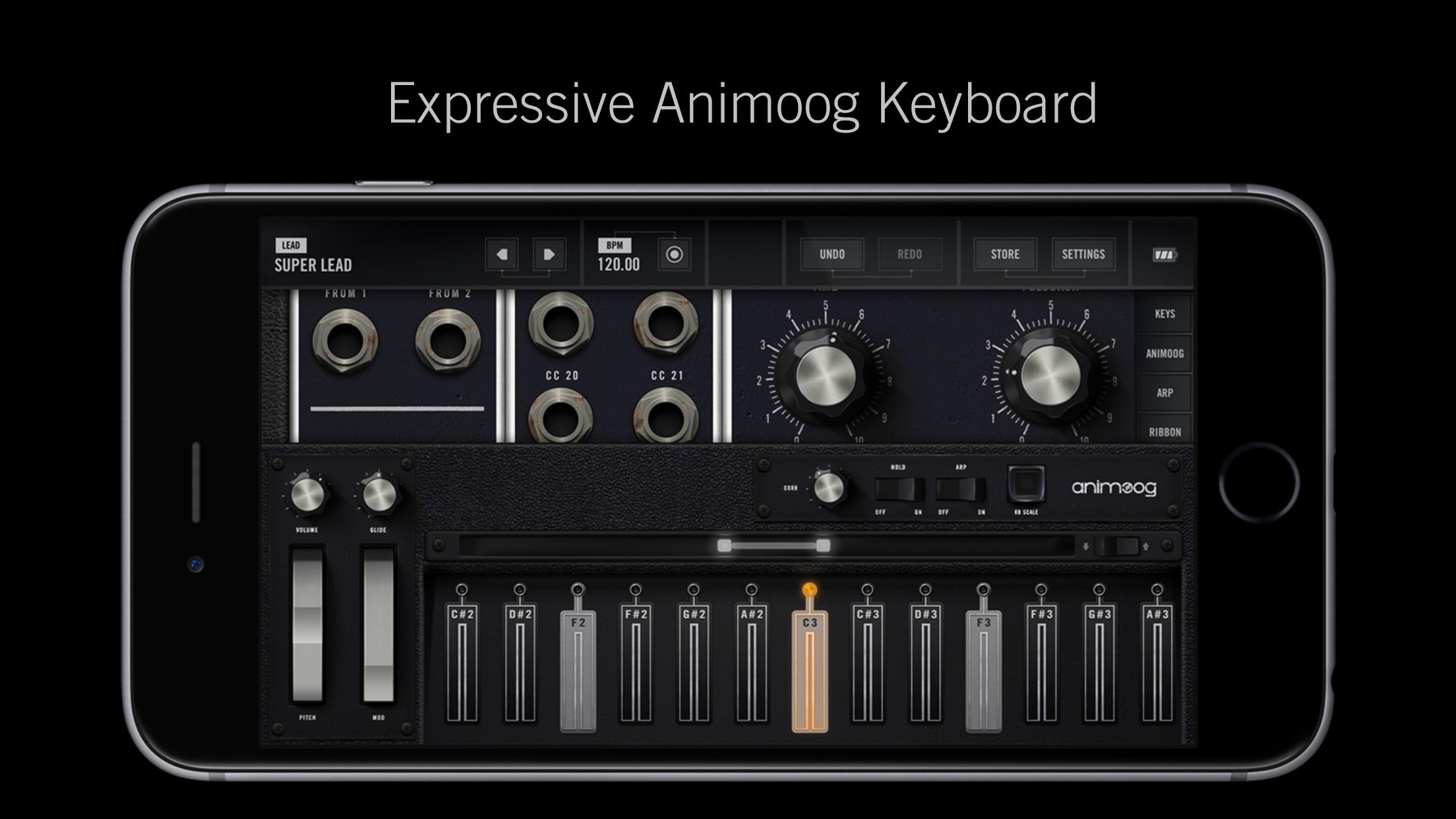Screenshot do app Model 15 Modular Synthesizer