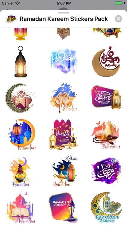 Ramadan Kareem Stickers Pack