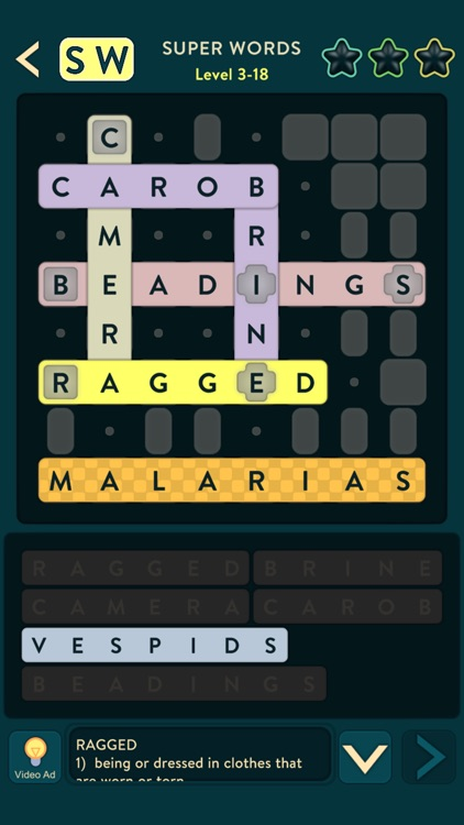 Super Words: Crossword Puzzle