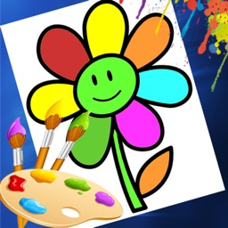Flower Coloring Drawing book