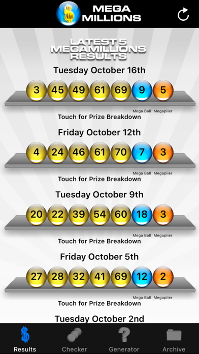 Mega Millions Lottery screenshot two
