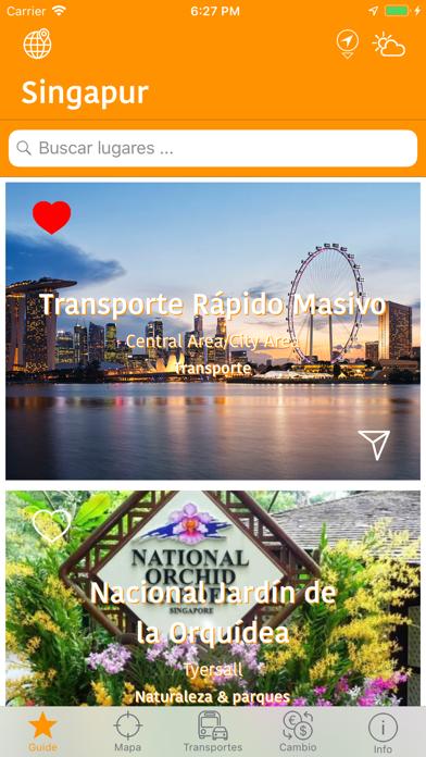 Singapur Mapa y Guía de ViajeCaptura de pantalla de1