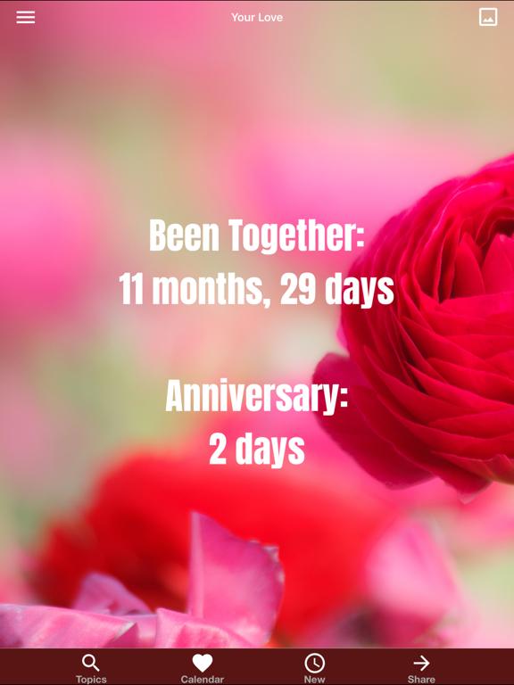 "Love Quotes"" Daily Calendar screenshot"