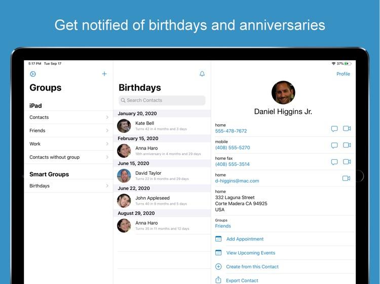 ContactsXL for iPad screenshot-3