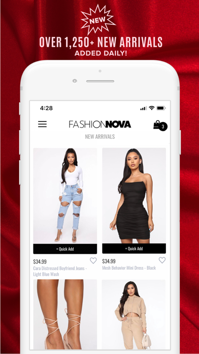 Fashion Nova Screenshot on iOS