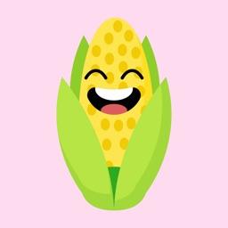 roasted corn stickers app