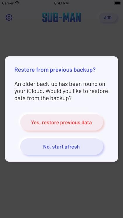 SubMan - Subscription Tracker