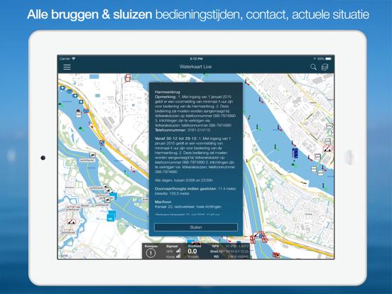 Waterkaart Live iPad app afbeelding 2
