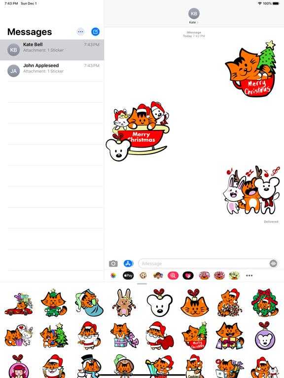 Kikimoji Cute Christmas screenshot 8