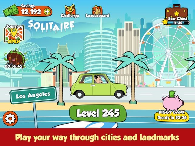 ‎Mr Bean Solitaire Adventures Screenshot