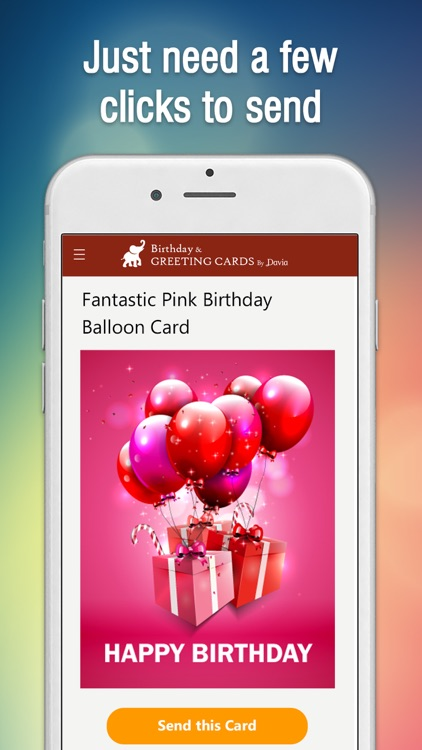 Birthday Cards By Davia Screenshot 1