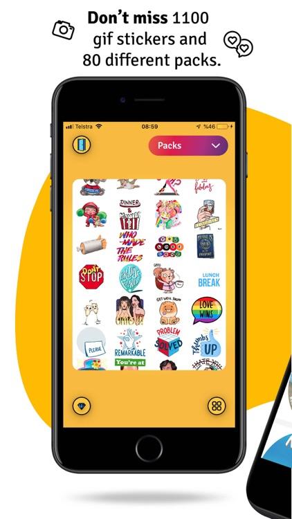 WuWu Emoji Gif Sticker Library screenshot-0