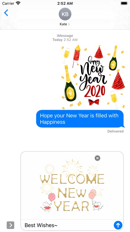 Happy New Year - 2020 Stickers