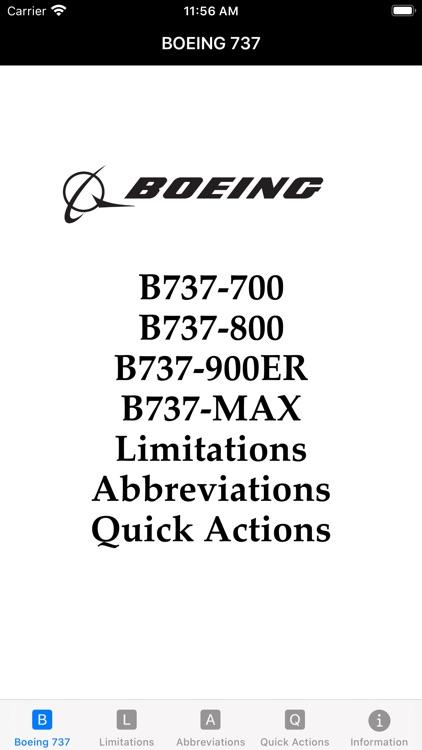 B737 Limitations Quick Actions
