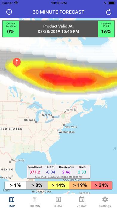 Aurora Forecast & Alerts screenshot 1
