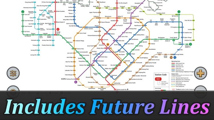 Singapore MRT Map Route(Pro) screenshot-4