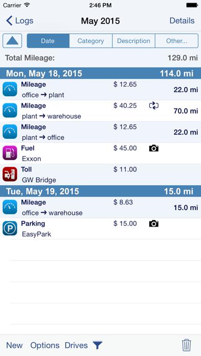 MileTracker Screenshot