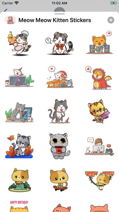 Meow Meow Kitten Stickers screenshot 2