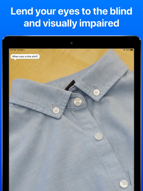 iPad Image of Be My Eyes – Helping the blind