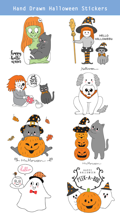 260+ Cute Hand Drawn Halloween screenshot 3
