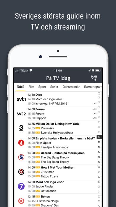tv.nu - Guide till TV & Play screenshot one
