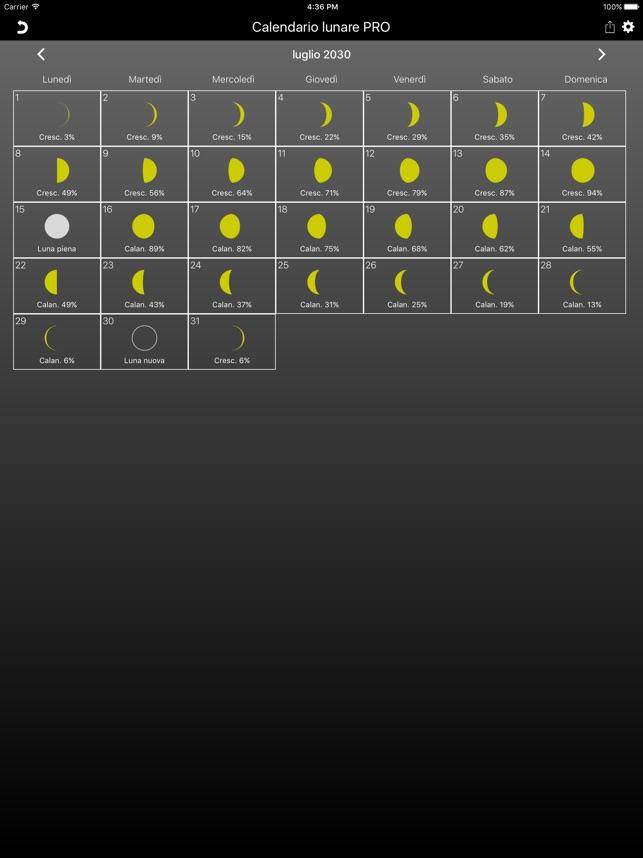 Calendario Lune.Calendario Lunare Pro Su App Store
