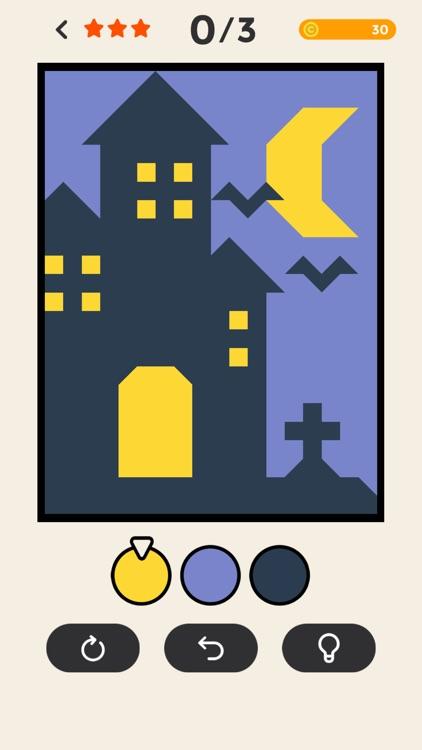 ERASE - coloring puzzle game screenshot-3
