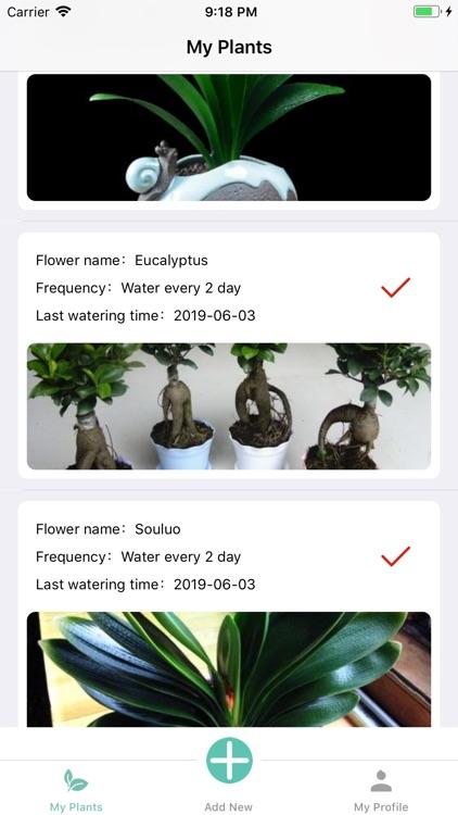 Watering reminder-FlowerHelper
